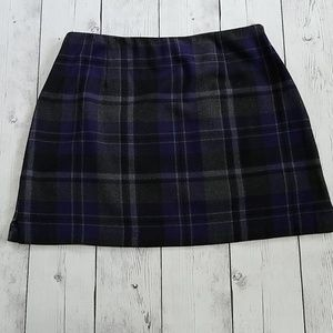 Purple Plaid Limited size 12 skirt